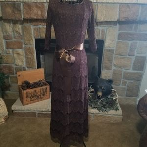 "Dainty Jewells ""A Night In Paris"" Brown Dress"